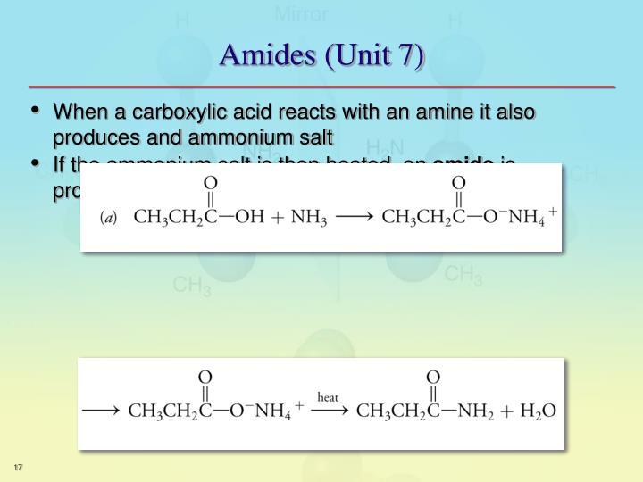 Amides (Unit 7)