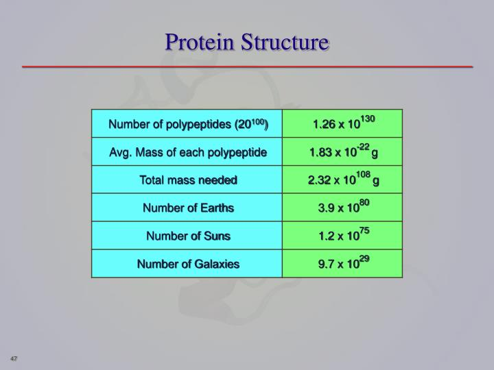 Number of polypeptides (20
