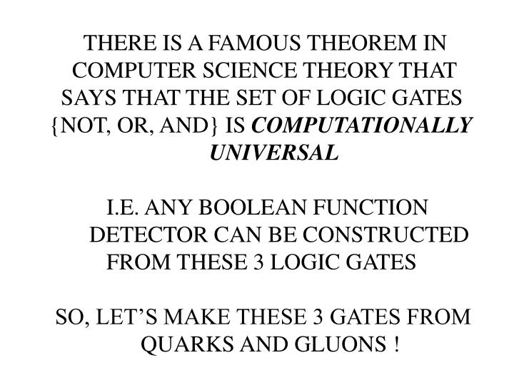 THERE IS A FAMOUS THEOREM IN