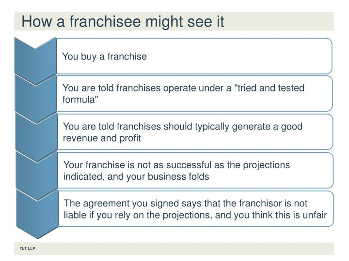 How a franchisee might see it