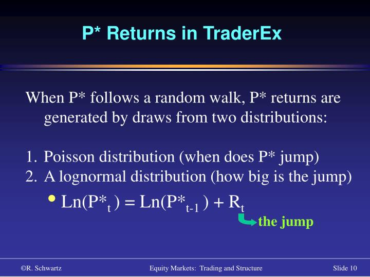 P* Returns in TraderEx