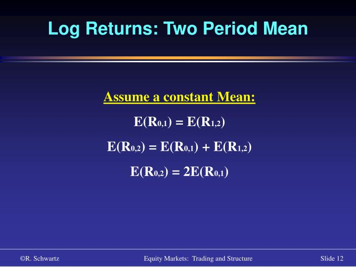 Log Returns: Two Period Mean