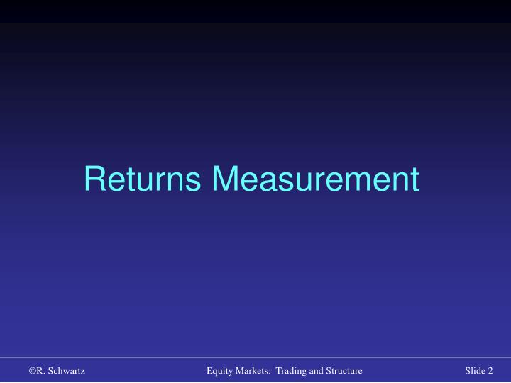 Returns Measurement
