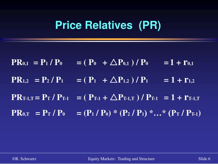 Price Relatives  (PR)