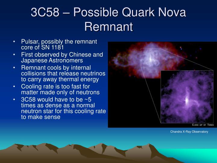 3C58 – Possible Quark Nova Remnant