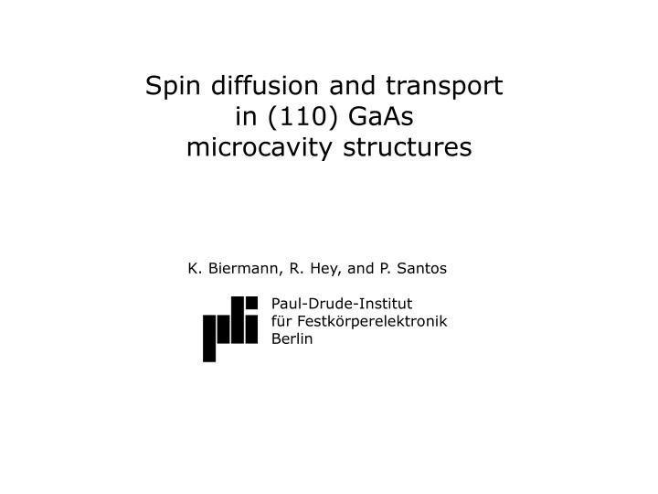 Spin diffusion and transport
