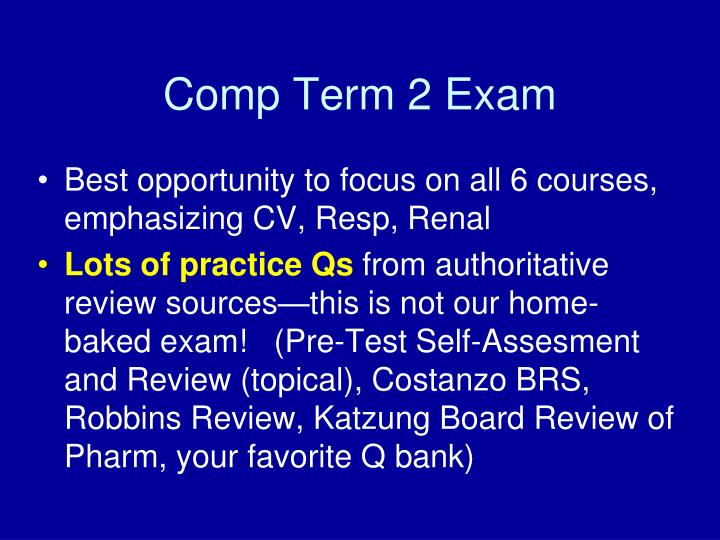 Comp Term 2 Exam