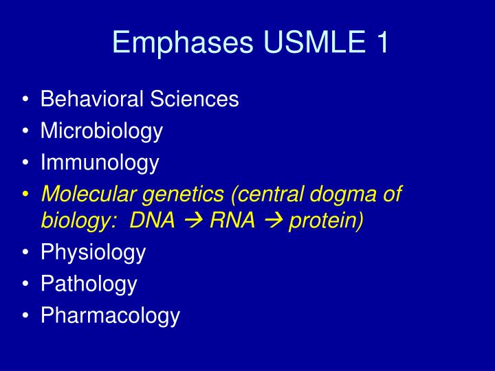 Emphases USMLE 1
