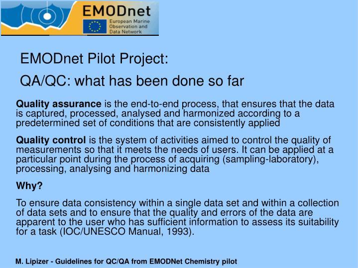 EMODnet Pilot Project: