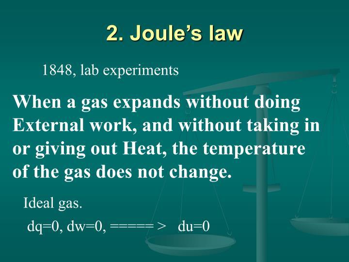 2. Joule's law