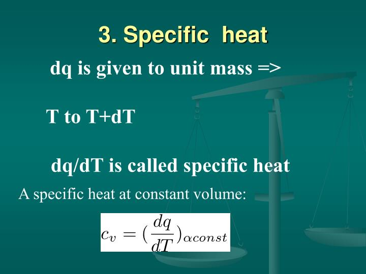 3. Specific  heat