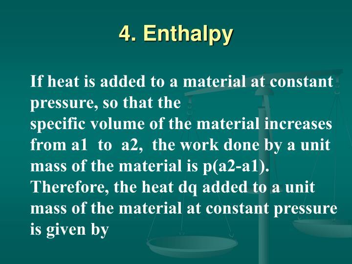 4. Enthalpy