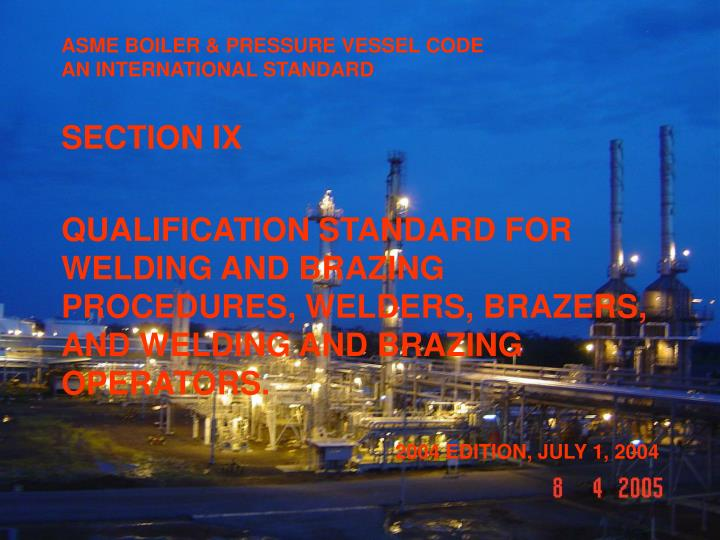 asme boiler pressure vessel code an international standard