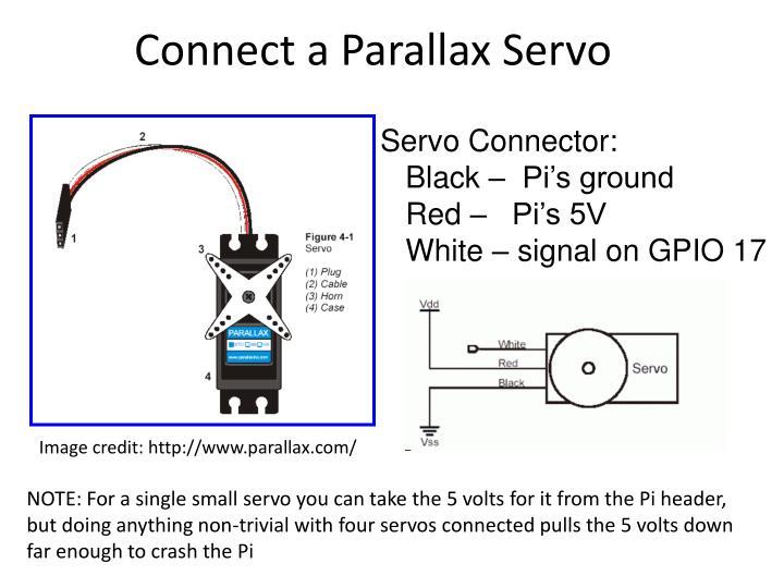 Connect a Parallax Servo