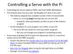controlling a servo with the pi