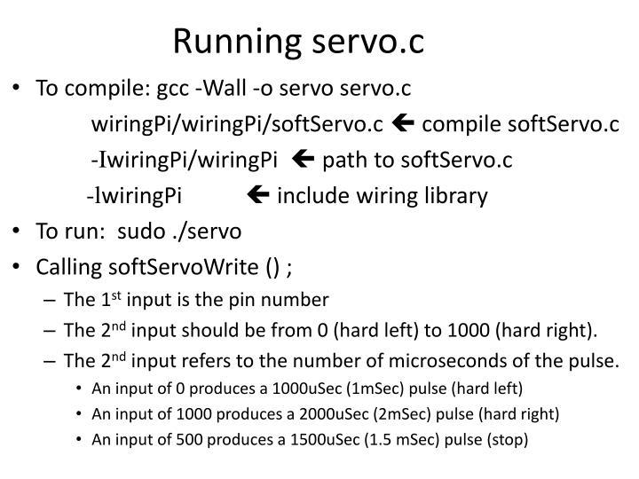 Running servo.c
