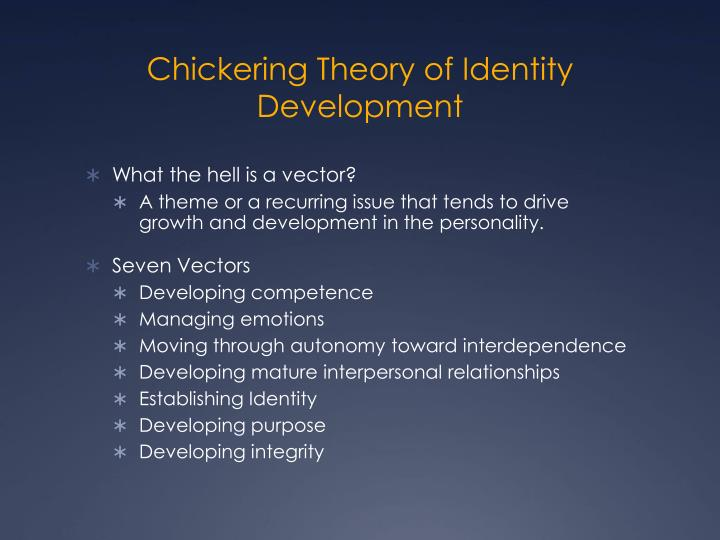 Chickering Theory of Identity Development