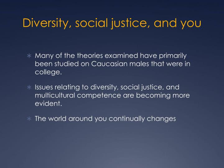 Diversity, social justice, and you