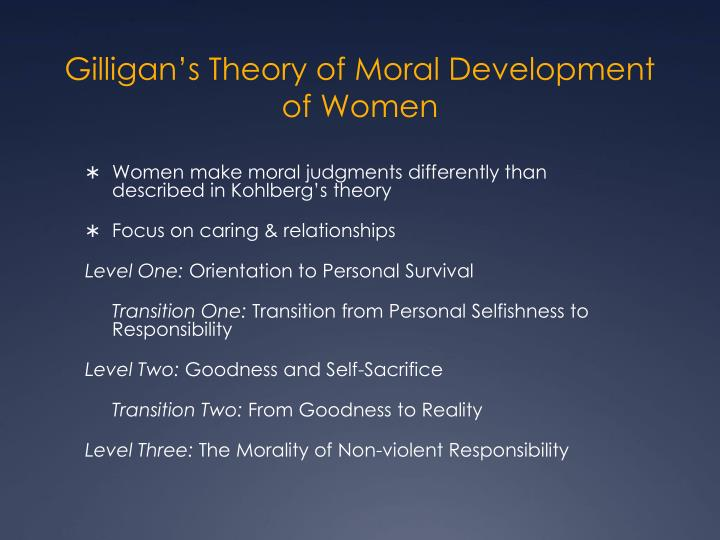 Gilligan's Theory of Moral Development of Women