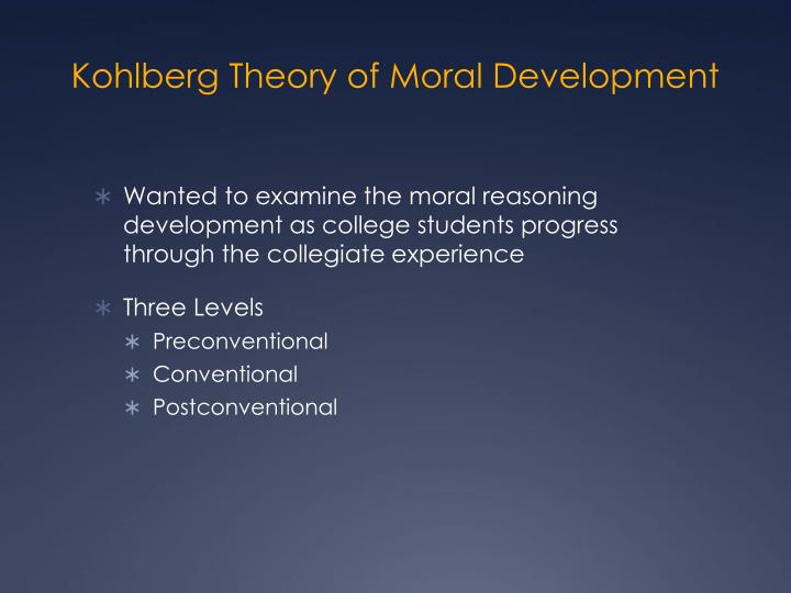 Kohlberg Theory of Moral Development