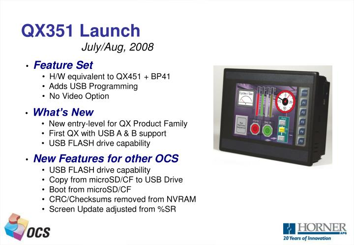 QX351 Launch