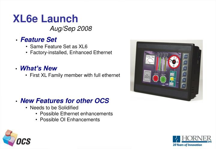 XL6e Launch