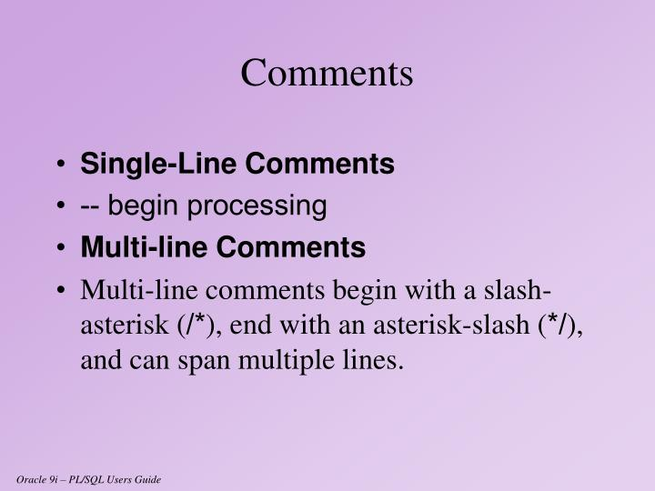 Single-Line Comments