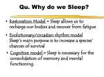 qu why do we sleep
