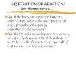 restoration or adaption jim horne 1999 asks