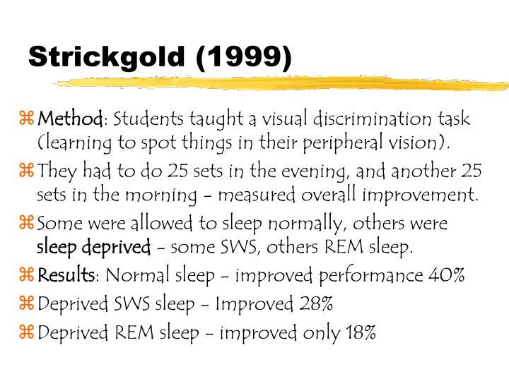 Strickgold (1999)