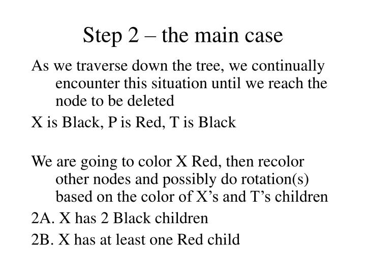 Step 2 – the main case