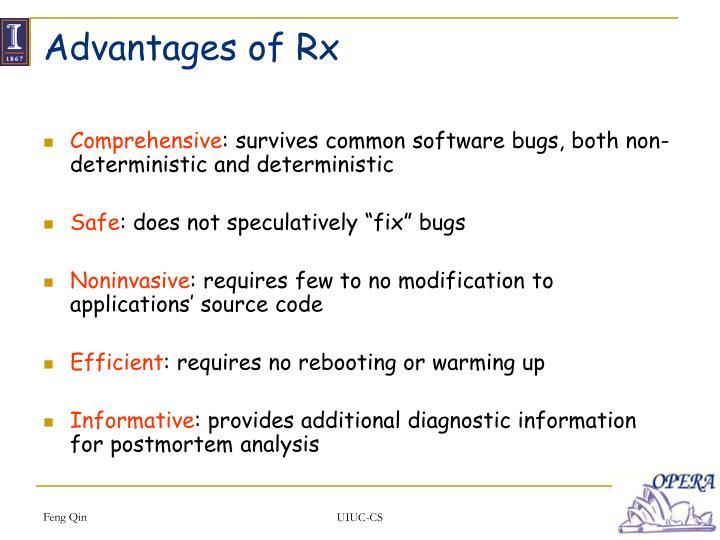 Advantages of Rx