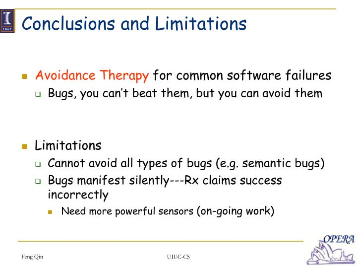Conclusions and Limitations