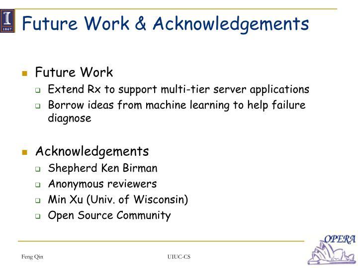 Future Work & Acknowledgements
