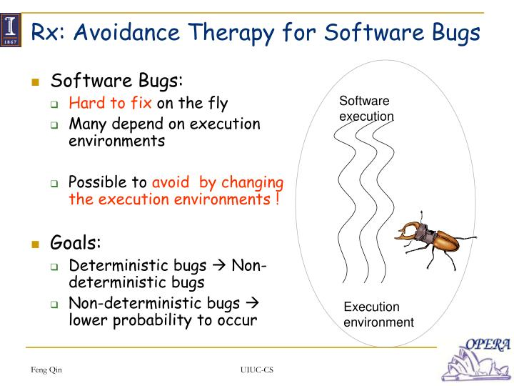 Rx: Avoidance Therapy for Software Bugs