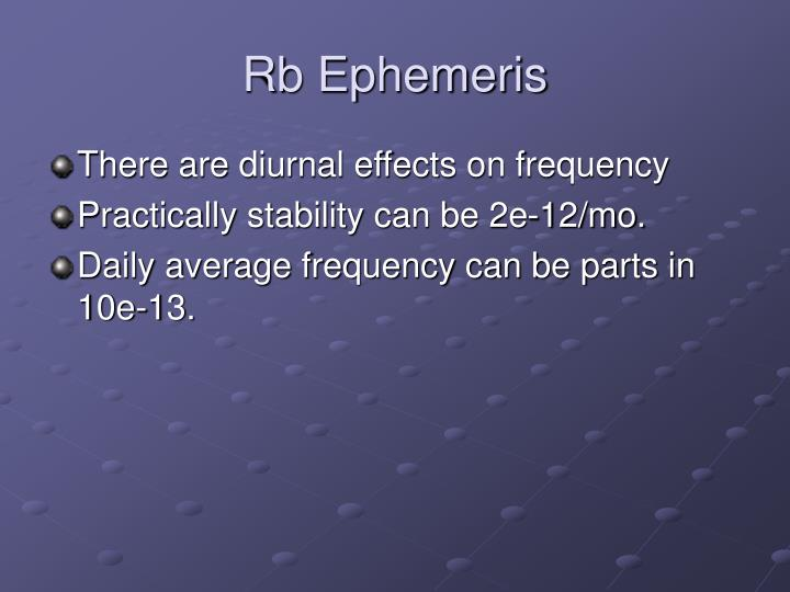 Rb Ephemeris