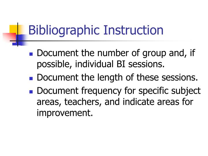 Bibliographic Instruction