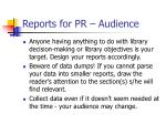 reports for pr audience1