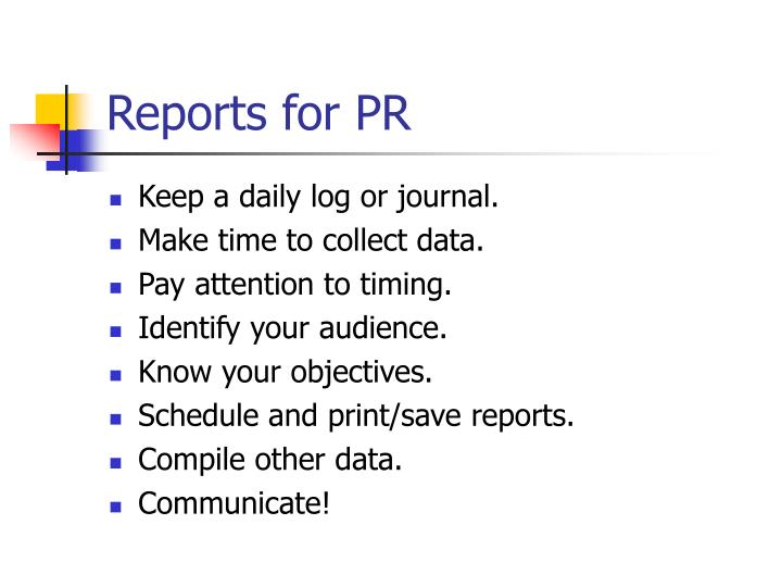 Reports for pr1