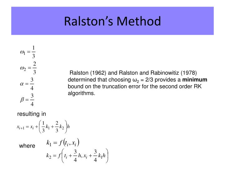 Ralston's Method