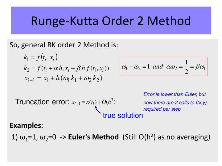 Runge-Kutta Order 2 Method