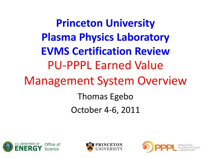Pu pppl earned value management system overview