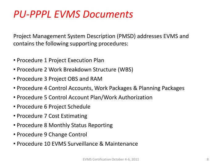 PU-PPPL EVMS Documents
