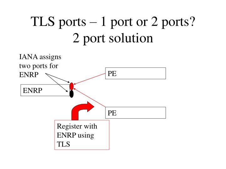 TLS ports – 1 port or 2 ports?