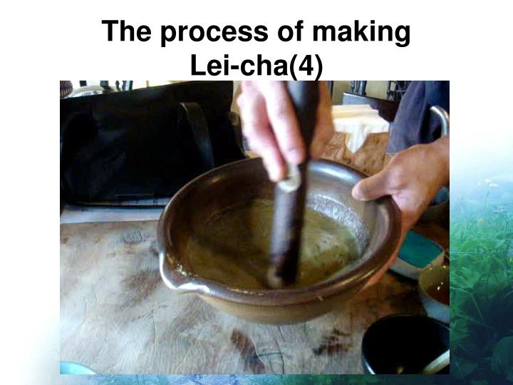 The process of making