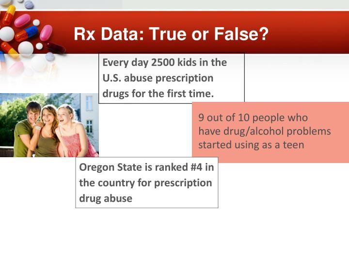Rx Data: True or False?
