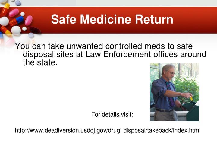 Safe Medicine Return