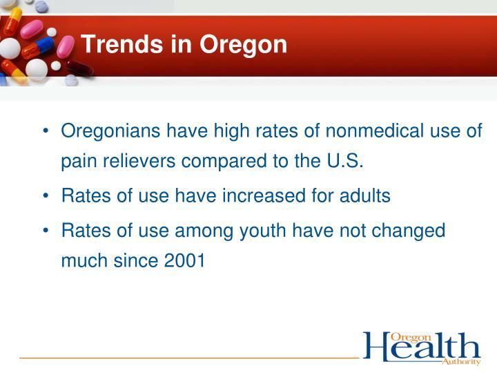 Trends in Oregon