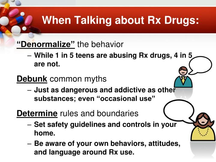 When Talking about Rx Drugs: