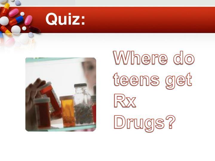 Where do teens get Rx Drugs?